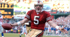 Jeff Garcia, scoring a TD against the GIants in the 2002 playoffs
