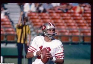 Yeah, Jim Plunkett actually played for the 49ers. Look at the crowd!